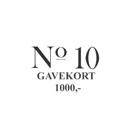 No-10 Gavekort 1.000,-